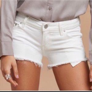 Aritzia Talula White Denim Shorts
